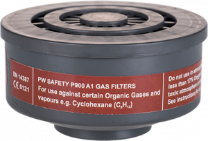 Portwest A1 Gas Filter Special Thread Connection - 6 pck (P900)