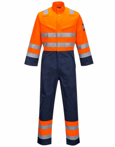 Portwest Modaflame RIS Navy/Orange Coverall (MV29)