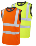 Leo Ashford ISO 20471 Class 2 Comfort Poly/Cotton Vest (V01)