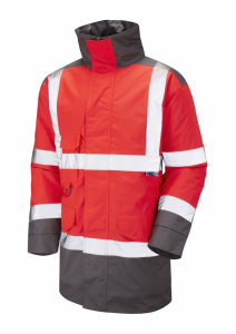 Leo Tawstock ISO 20471 Class 3 Anorak (A01-R/GY)