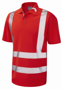 Leo Broadsands ISO 20471 Class 2 Coolviz Ultra Polo Shirt (P09-R)