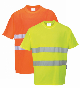 Portwest Two Tone Cotton Comfort T-shirt Polo shirt Hi Vis workwear S173