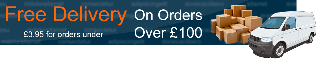 Free Delivery over 100 pounds
